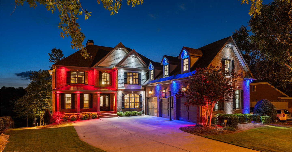 Exterior Color Lights Enhance Your Home